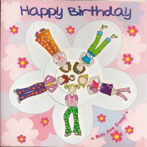 Children's Birthday Card Spinner - Girly Dress Up